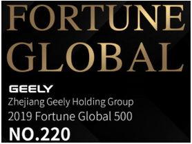 Geely Holding sube al puesto 220 en Fortune Global 500
