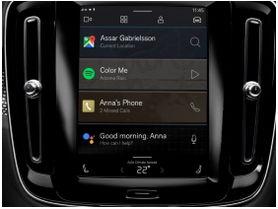 Volvo XC40 eléctrico tendrá nuevo sistema de infoentretenimiento Android con tecnologías integradas