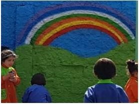 Goodyear pinta mural en jardín infantil de Maipú para incentivar el cuidado del medio ambiente